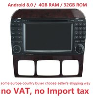 2din 4 ГБ Оперативная память 32 ГБ Встроенная память android 8,0 gps навигации для Mercedes Benz, W220, W215, s280, S320, S350, S400, S500, CL600 S класс, радио