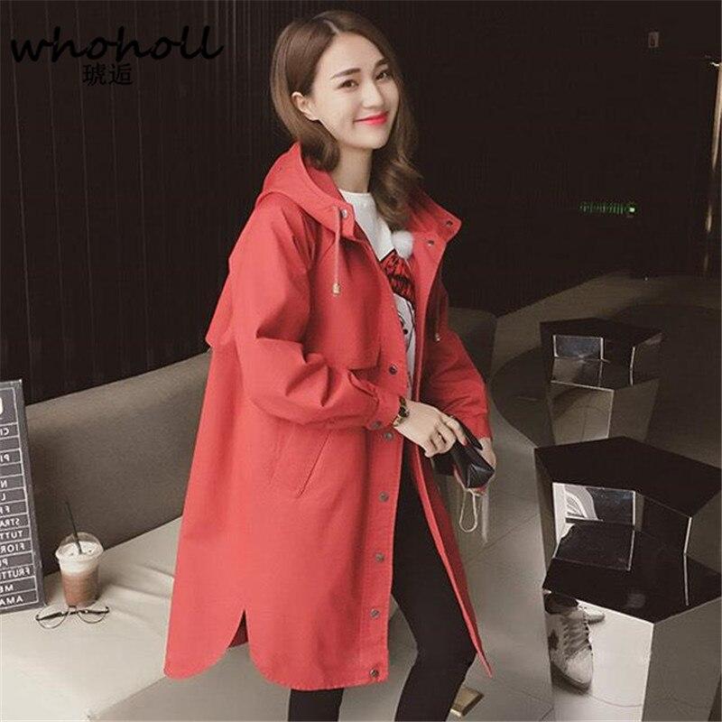gabardina suelto traje Otoño Invierno abrigo 2017 mujer mujer qTpIqw