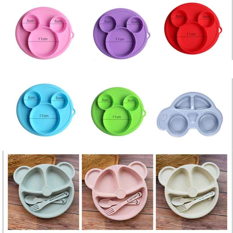 Kids Feeding Bowls Baby Safe Silicone Dining Plate BPA Free Solid Children Dishes Suction Toddle Training Tableware Dropshiping
