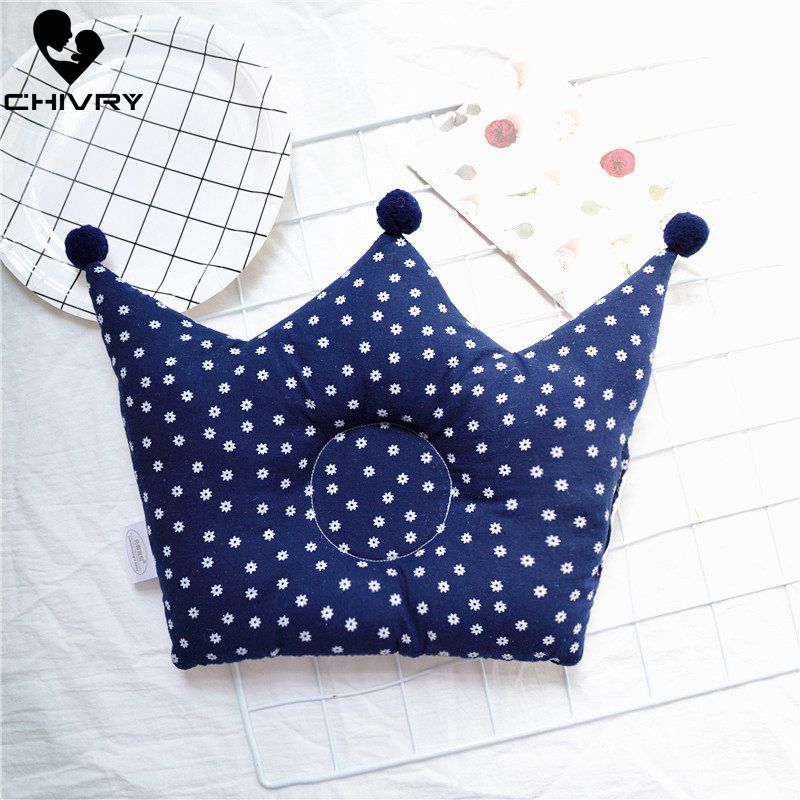 New Baby Shaping Pillow Prevent Flat Head Infants Crown Shape Dot Print Pure Cotton Sleeping Bedding Room Pillows