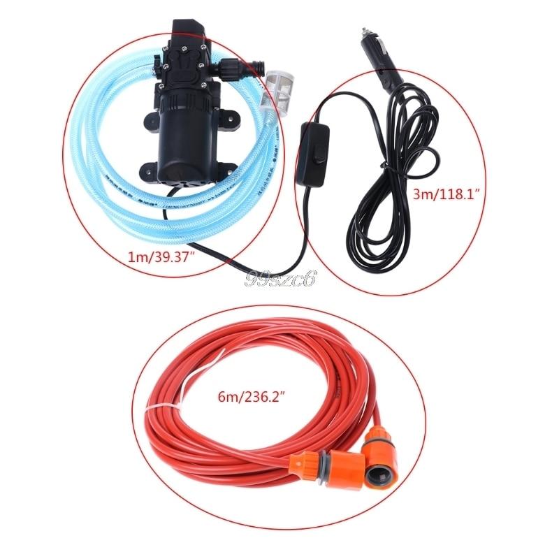 12 В Портативный 100 Вт 160PSI высокое давление самовсасывающий Электрический Автомойка прокладка для стиральной машины прикуриватель с водяны...