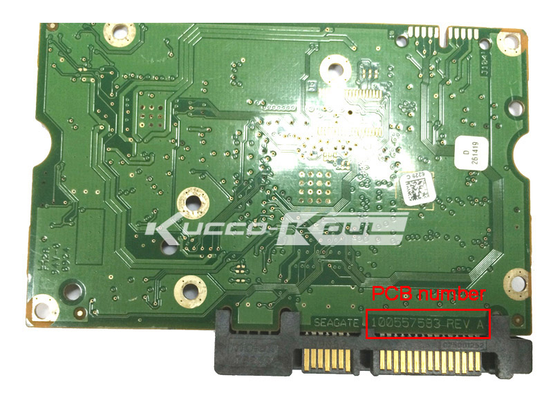 hard drive parts PCB logic board printed circuit board 100557583 for Seagate 3.5 SATA hdd data recovery hard drive repair