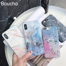 Boucho Lovely Marble Phone Case For iphone 8 Cases For iphone 7 Plus X Cover Art Mountain Painted Soft IMD Covers Bags Capa(China)