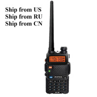 Ship from US/RU/CN! Baofeng UV-5R 136-174/400-520 MHz Walkie Talkie 5W UHF&VHF Dual Band Portable Ham Radio uv5r