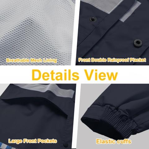 jaqueta de seguranca amarelo impermeavel chuva casaco