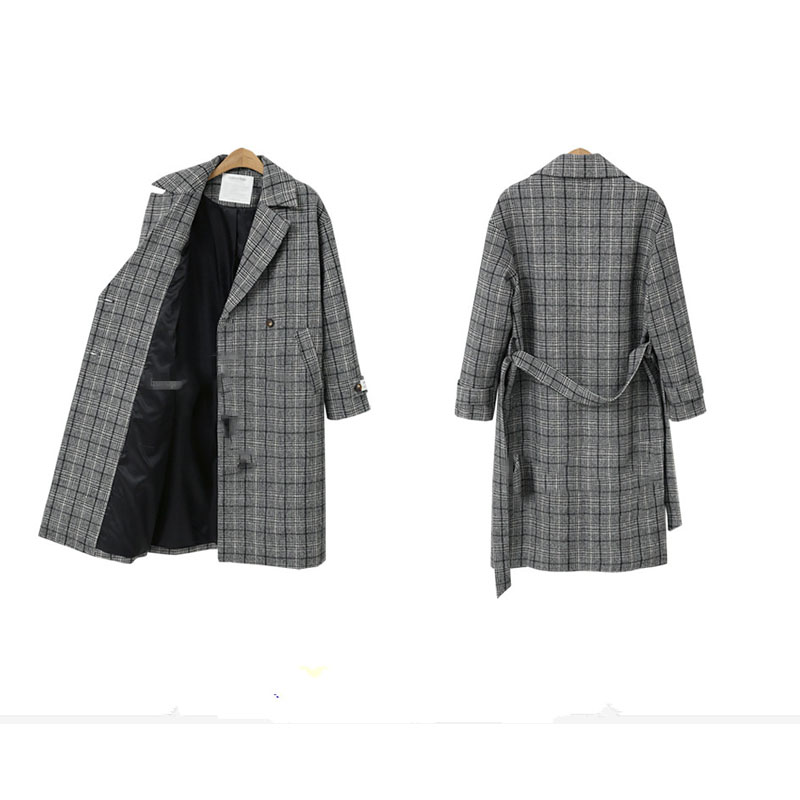 De Épais Européen Marque Outerewar 5xl Style Taille Boutonnage Plus Coatsloose Dames Vestes Xl La Femmes Double Base Black Hiver Plaid coffee 2018 qPUwWE7U
