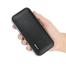 Metálico Estéreo Bluetooth Altavoz Inalámbrico portátil con 2500 mAh PowerBank Soporte de tarjeta TF