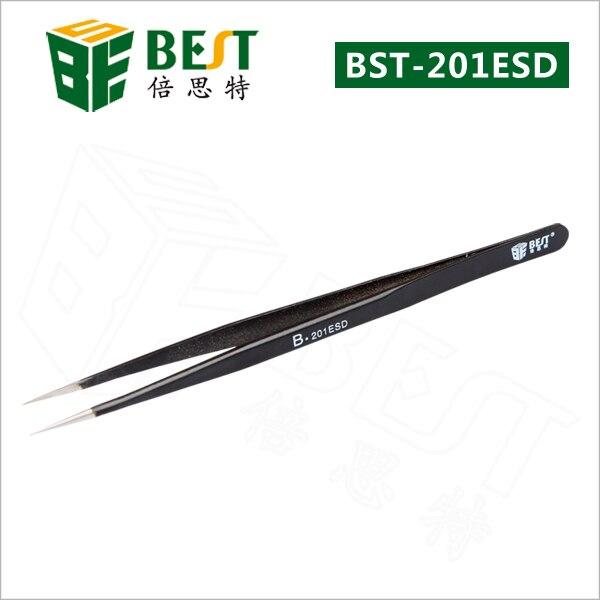 BEST-201 ESD Stainless Steel Eyelash Extension Mobile Repair Tweezer