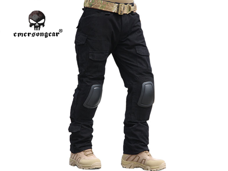 ФОТО Emersongear Gen2 Combat Pants With Knee Pads Military Airsoft Tactical Gear Military Camouflage Trousers EM6988 Black