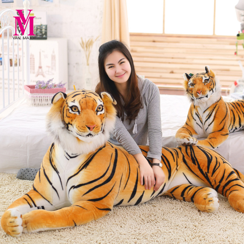 Creative Simulation Tiger Plush Toys Doll Dolls Large Dolls White Tiger Children Birthda ...