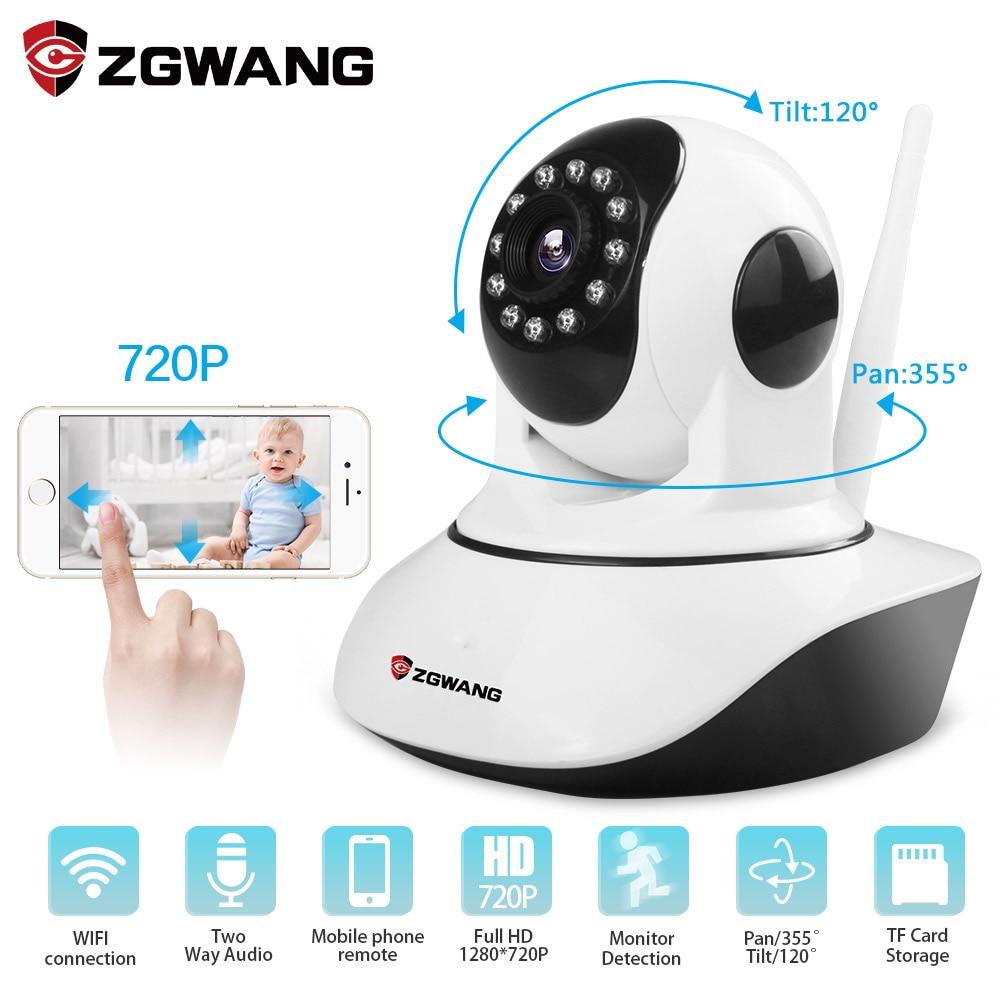 ZGWANG 720 P caméra cctv IP HD WIFI 1080 P Infrarouge caméra de sécurité Détection De Mouvement Home Security 360 caméra vidéo caméra IP