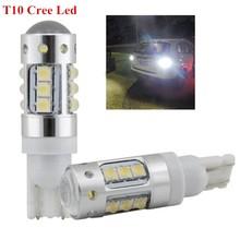 2 BRIGHTEST Xenon White Cree Chips 80W T10 194 LED Bulbs FRONT SIDEMARKER For CADILLAC ESCALADE