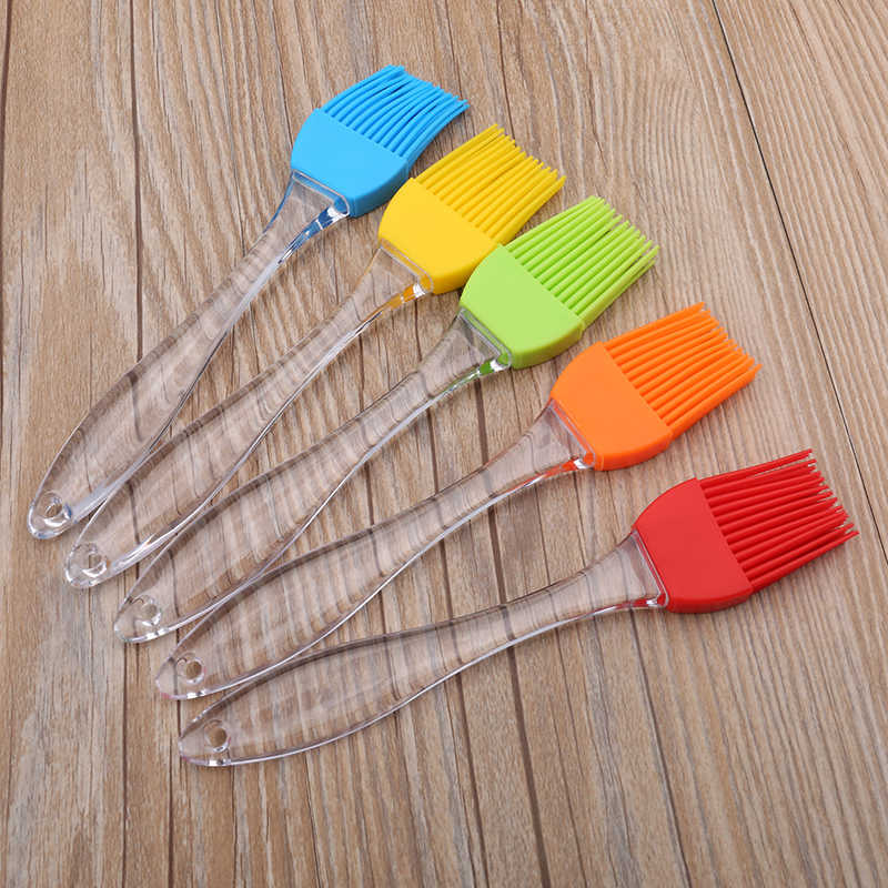 3 color Silicone Kitchen Oil Barbecue Brush Baking Bakeware BBQ Cake Pastry Bread Oil Cream Basting Tools Kitchen Accessories