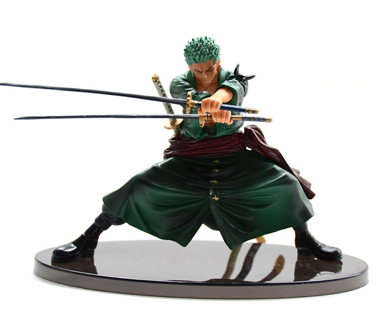 Anime One Piece 13cm Cool Decisive Battle Version One Piece Roronoa Zoro Figure Toy Action Figure Collection Model Toy