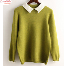 women upmarket fine crystal ball sweater new unique cute ruffles sleeve cuff nice knitted shirt