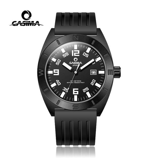 Mens Watches Top Brand Luxury Casima Men Military Wristwatch Man Waterproof Silicone Wrist Quartz Watch Clock Relogio Masculino