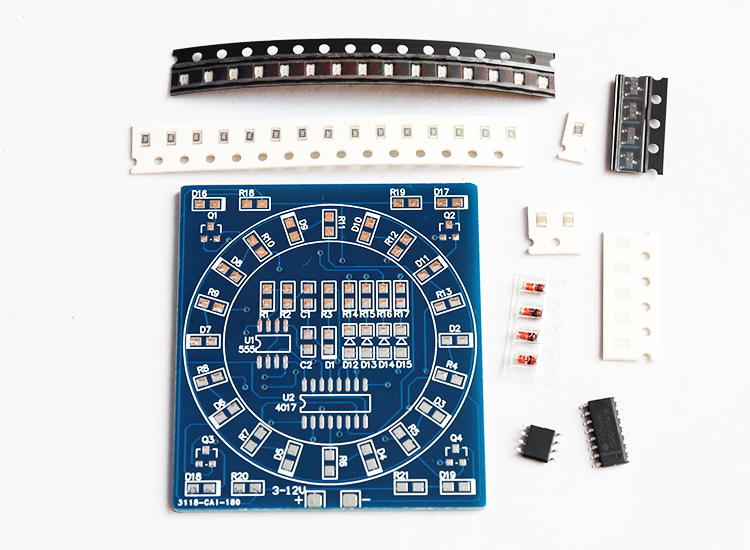 diy electronic SMD component welding practice board water lamp kit skill training electronic DIY training production parts