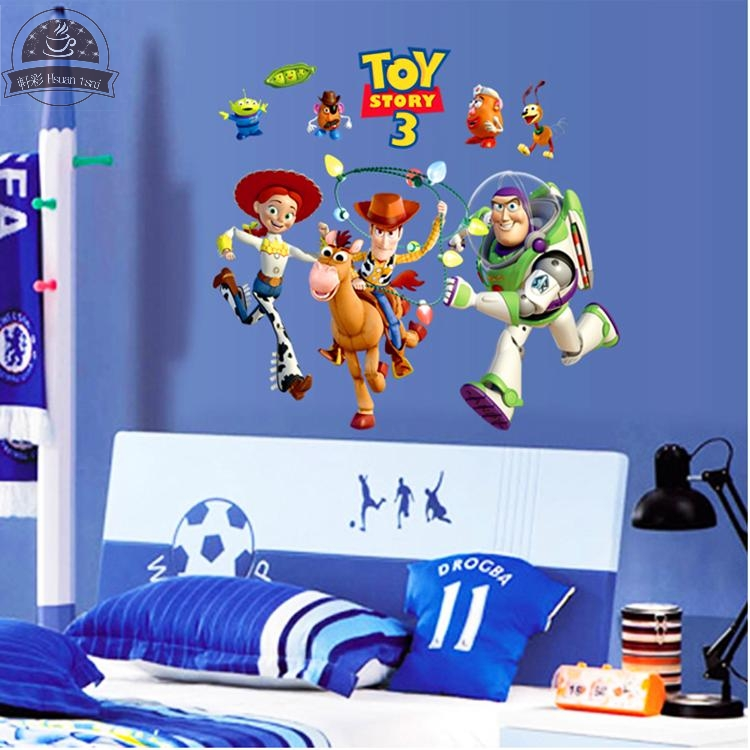 Buzz Lightyear Toy Story Vinyl Wall Stickers For Kids Rooms