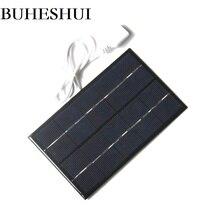 BUHESHUI 5V 2W Solar Cell Mini Solar Panel Charger Solar Battery Charger For 3.7V  LED Light 88*142MM Free Shipping