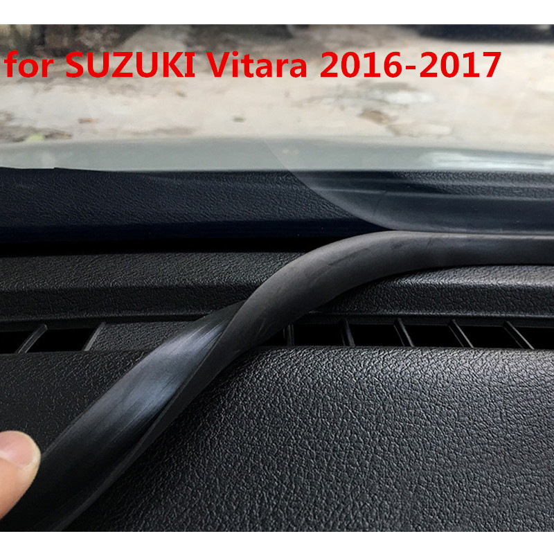 1pc for SUZUKI Vitara 2016 2017 Instrument console Sealing strip Front windshield Glass sound insulation Rubber strip Gap plug-in Chromium Styling from Automobiles & Motorcycles