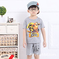 Cool New Summer Children Sets Cotton Casual Cartoon Bear two piece suit for  2 3 4 5 6 years old baby boys girls short set