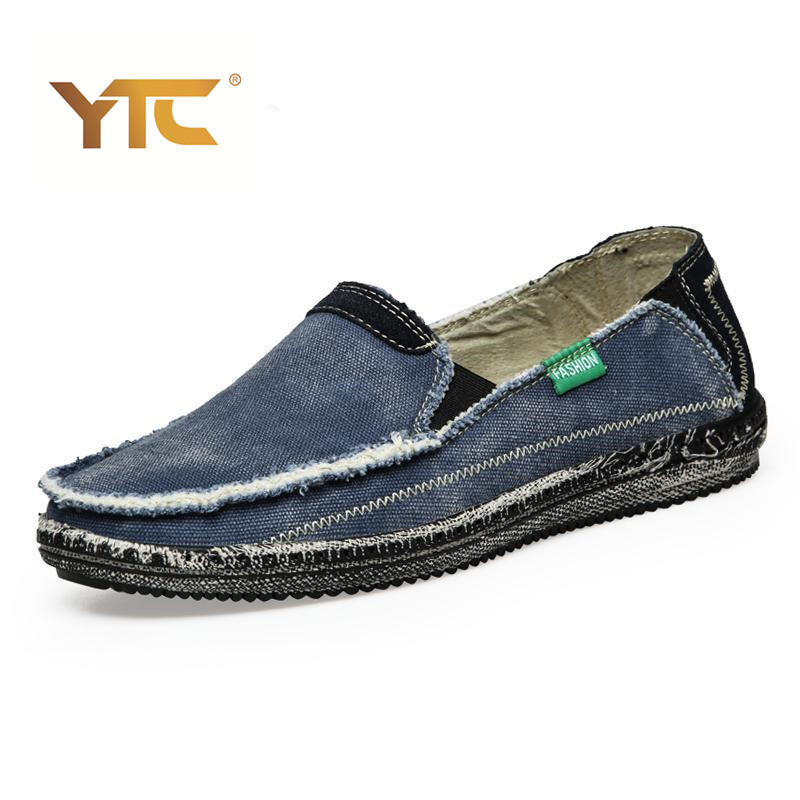 Low price Mens Breathable Casual Shoes Jeans Canvas Slip On men Fashion Flats Loafer