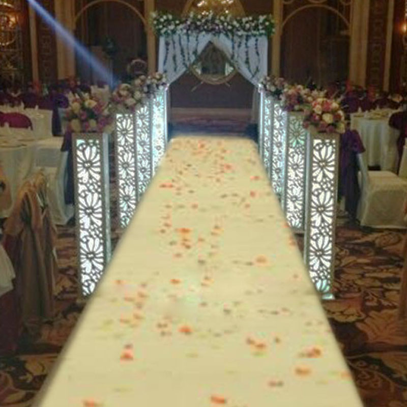 Luxury Wedding Carved Pillar Wedding Road Lead Stand columns with led lights Wedding Road Lead Stand Carved Pillar decoration-in Party DIY Decorations from Home & Garden    1
