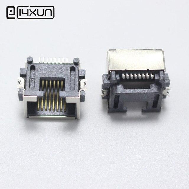 2pcs RJ45 Network jack 8P Shenboard SMD Network Female Socket H=8.6 ...