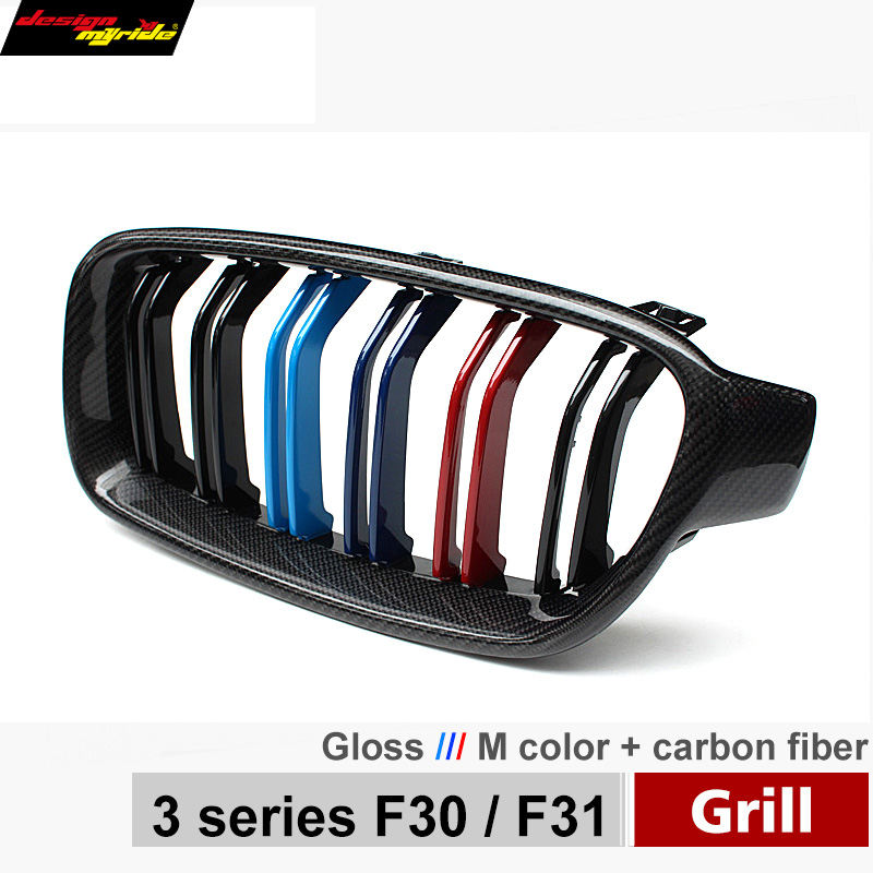 F30 Grilles ABS M Color F35 Kidney Front Grille Replacement M3 Bumper for BMW F30 F35 320i 318i 328i 328d 330d 330i 335i 340 12+