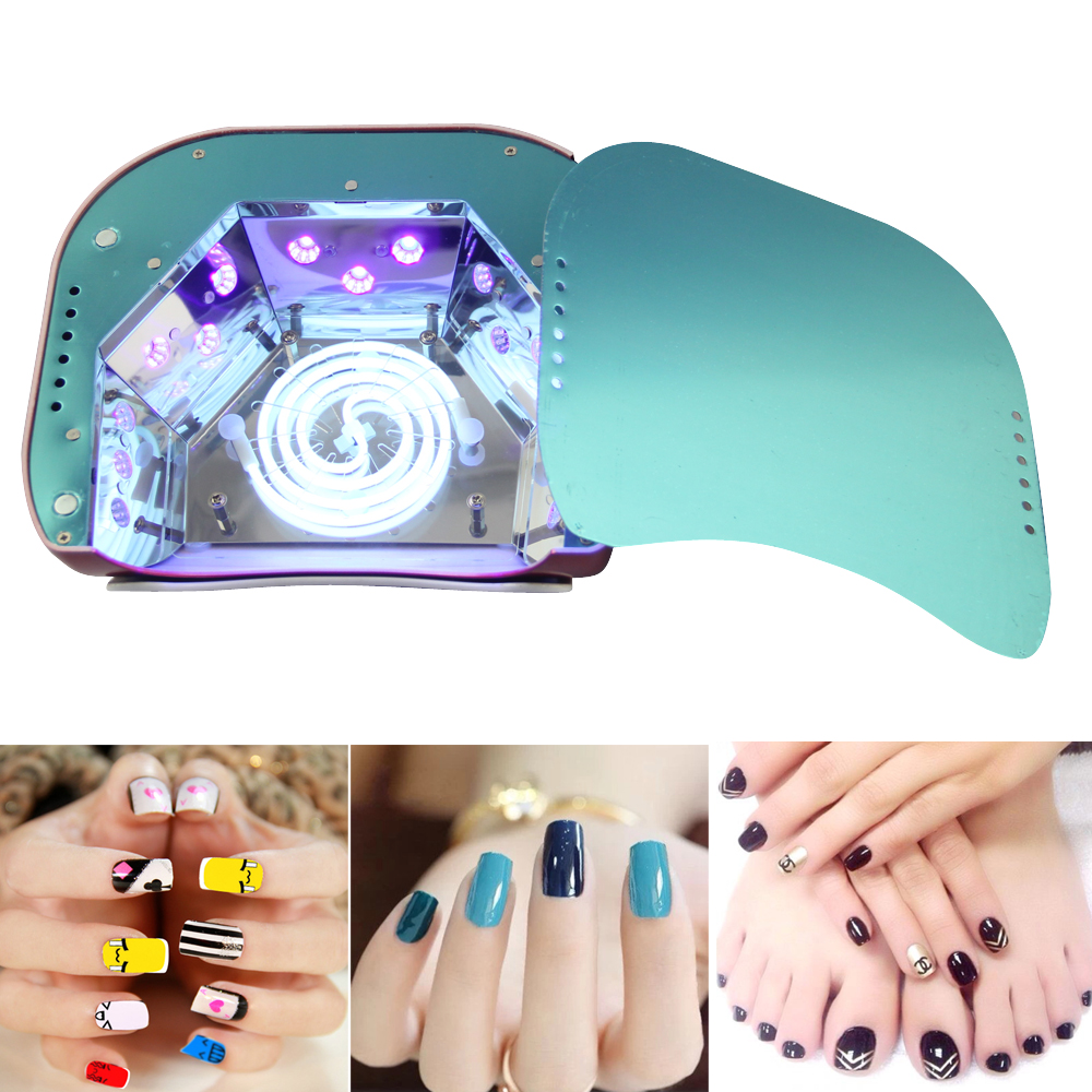 48W Nail Dryer CCFL LED UV Lamp Light for Curing Nail Gel Polish Automatic Sensor Timer Manicure Nail Lamp For Nails Art Tools-in Nail Dryers from Beauty ...