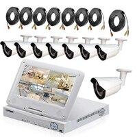 8CH CCTV Système 1080 DVR 8 PCS 1800TVL IR Intempéries Extérieure de Surveillance Vidéo de Sécurité À Domicile Caméra Système 8CH DVR Kit