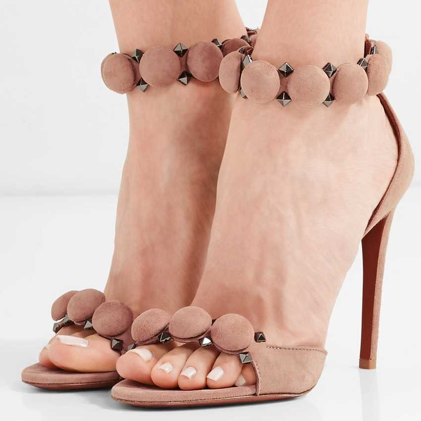 2018 Nuove Donne di Arrivo Scarpe Open Toe Sandali Delle Donne Cinturino Alla Caviglia Gladiatore Sandali Estate Scarpe Donna Sandali Scarpe Da Donna