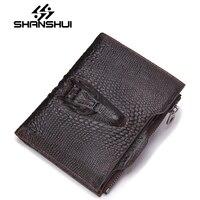 Carteira Genuine Leather Men Wallets Short Coin Purse Small Vintage Wallet Cowhide Leather Card Holder Pocket