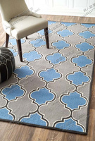 2018 New Contracted Fashion Handmade Carpet, Rugs Of Bedroom Sitting Room Sofa, Blue Classic Custom Acrylic Carpets.