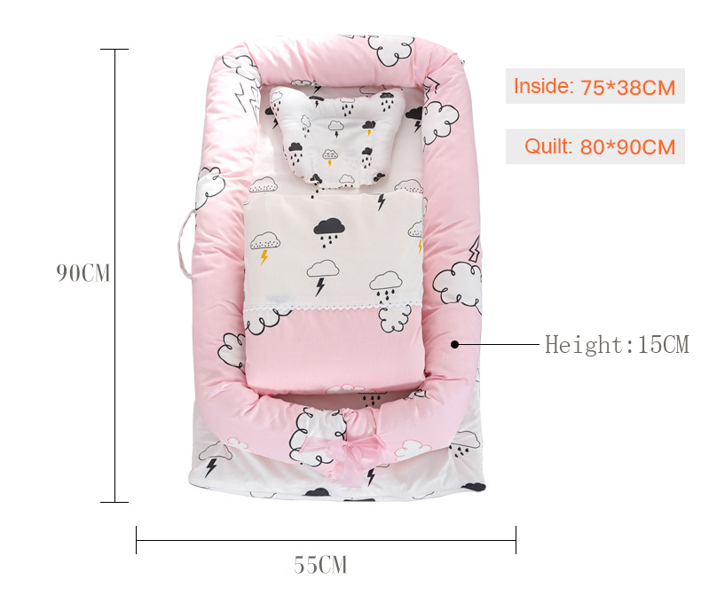 Quilt Portable Washable Printed Crib Bumper