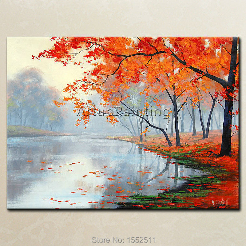 ᑐHand painted Canvas Oil painting Wall Pictures for Living room ...