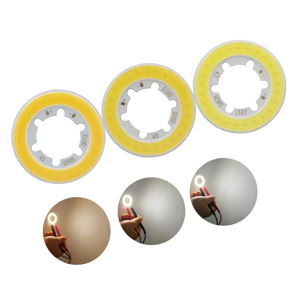 Купить с кэшбэком allcob manufacturer annular 43mm LED COB Light Source for bulb lamp genesis chips 15-17V 300mA Warm White 5W COB LED moudle