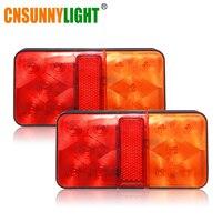 CNSUNNYLIGHT LED Car Truck Stop Rear Tail Brake Reverse Light Turn Indiactor 12V 24V ATV Trucks