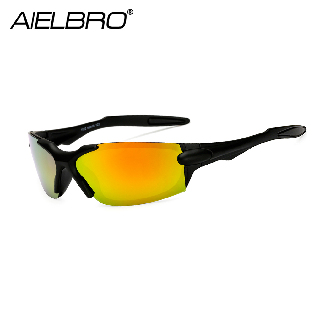 AIELBRO Polarized Cycling Glasses Bike Bicycle Sports Mens Sunglasses MTB Road Eyewear Protection Goggles
