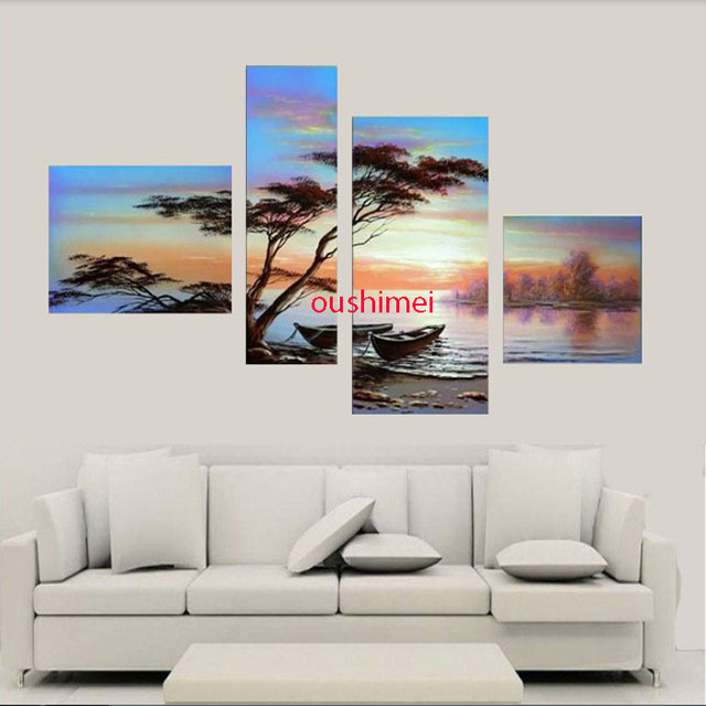 Handmade Wall Art No Framed Modern Landscape Acrylic High Wall Oil ...