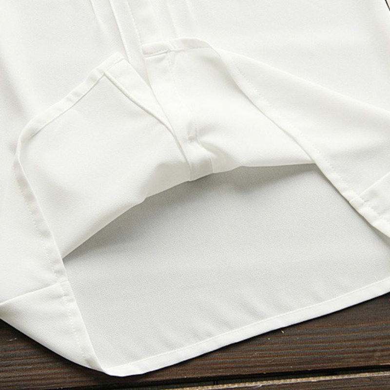 HTB1Cwj.QXXXXXc0XpXXq6xXFXXXR - Korean Women Elegant Bow Tie White Blouses Clothing