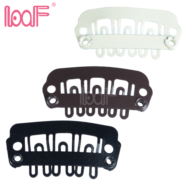 Loof 100pcs 24mm U Shaped Wigs Hair Snap Clips For Hair Extensions