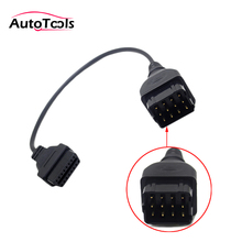 For Russia GAZ 12pin to 16pin truck/car diagnostic tool cable Adapter gaz 12 pin