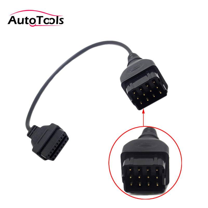 For Russia GAZ 12pin To 16pin Truck Diagnostic Tool Cable Adapter Gaz 12 Pin