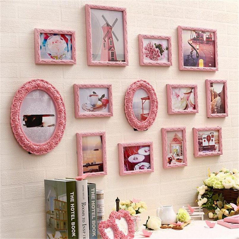 vintage picture frames wall quadros decorativos photo frame set novelty gift led light cool toy