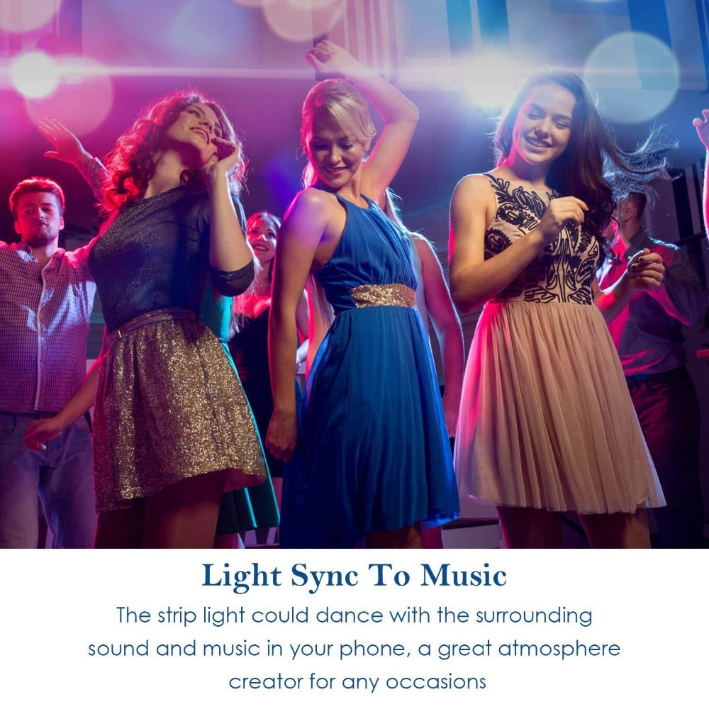 HTB1CwjTc6fguuRjSszcq6zb7FXa1 5M WiFi Bluetooth LED Strip DC 12V SMD 5050 Non waterproof Flexible RGB Tape Ribbon Light Works With Amazon Alexa Google Assist