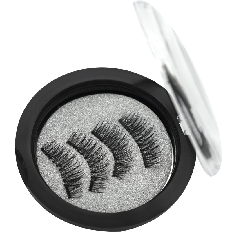 Wqzl 2 Pairs Magnetic Eyelashes With 2 Magnets Soft Lashes Handmade 3D Magnetic Lashes Natural False Eyelashes Double Magnet 24P in False Eyelashes from Beauty Health