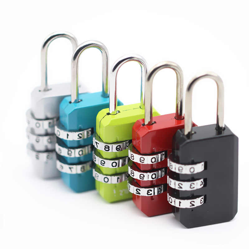 3 Dial Digit Number Combination Password Lock Travel Security Protect Locker Travel Lock for Luggage/Bag/Backpack/Drawer