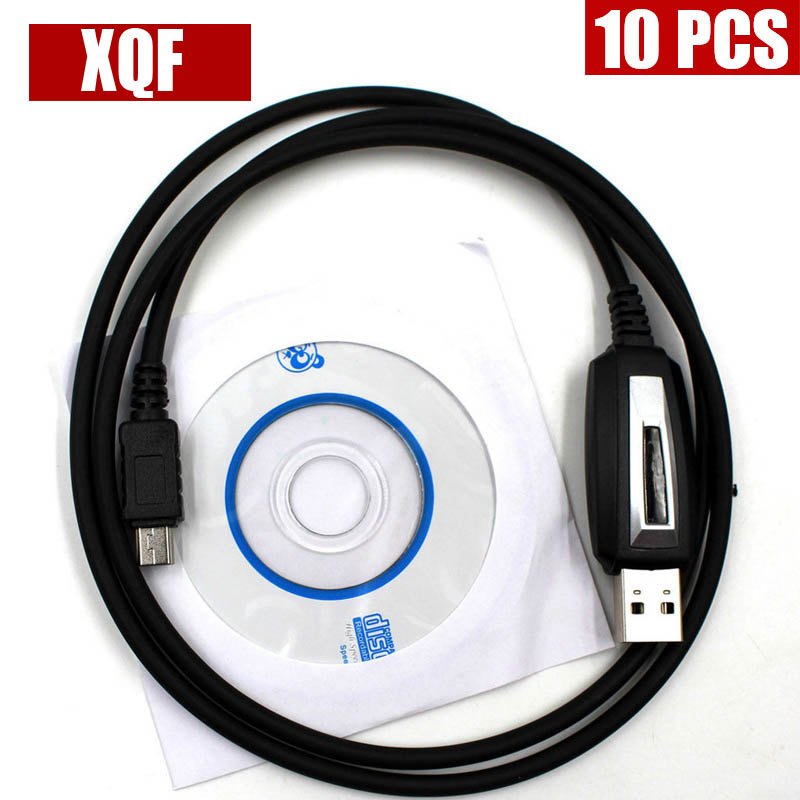 XQF 10PCS Original USB Programming Cable for <font><b>TYT</b></font> <font><b>TH</b></font>-<font><b>9800</b></font> <font><b>TH</b></font>-7800 with Software CD image