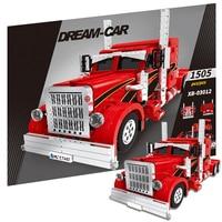 XINGBAO 1505pcs Red Monster Truck Vehicle City Car MOC Technic Building Blocks Bricks DIY Tech Toys For Children Gifts